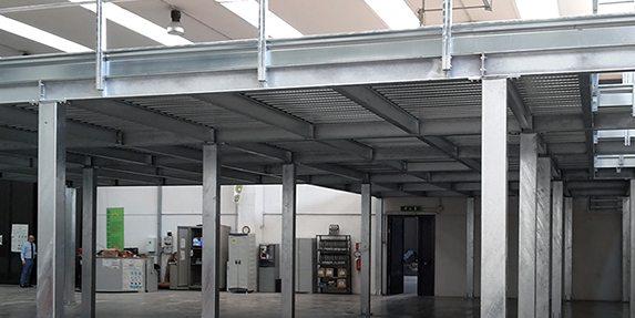 soppalchi per capannoni industriali e soppalchi per ufficio in acciaio
