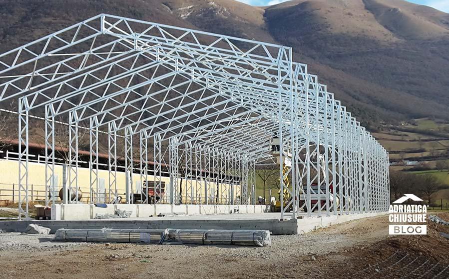 struttura in ferro per capannone
