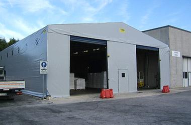 capannoni mobili, coperture e tunnel per il settore industriale