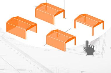 configuratore per preventivo di capannoni, tunnel e coperture mobili