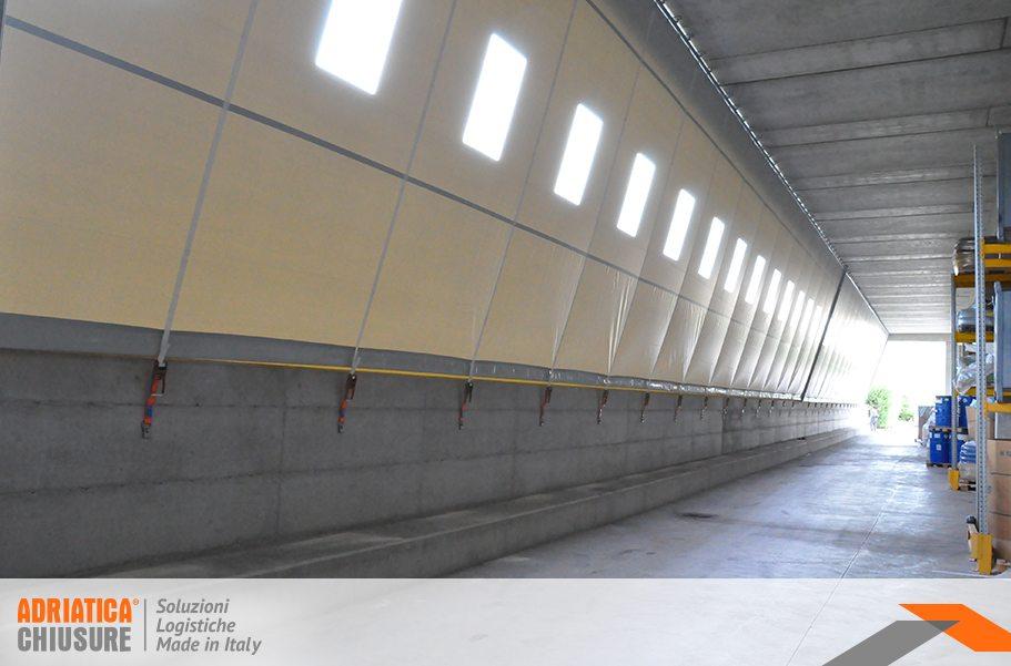 Pannelli Divisori Per Esterni In Plastica.Parete E Divisori Industriali In Pvc Adriatica Chiusure