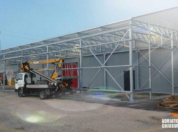 coperture per stoccaggio e deposito merci per industria metalmeccanica