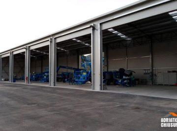 coperture per stoccaggio e deposito merci per industria dei mezzi di sollevamento