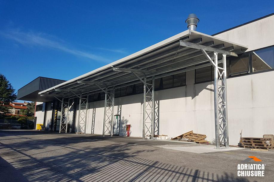 Tettoia A Sbalzo Per L Industria Delle Vernici Adriatica