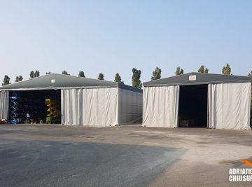 coperture per stoccaggio e deposito merci per industria dei motori elettrici