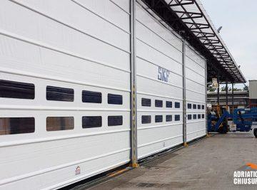 realizzazione di tre porte rapide ad impacchettamento per SFK Industry