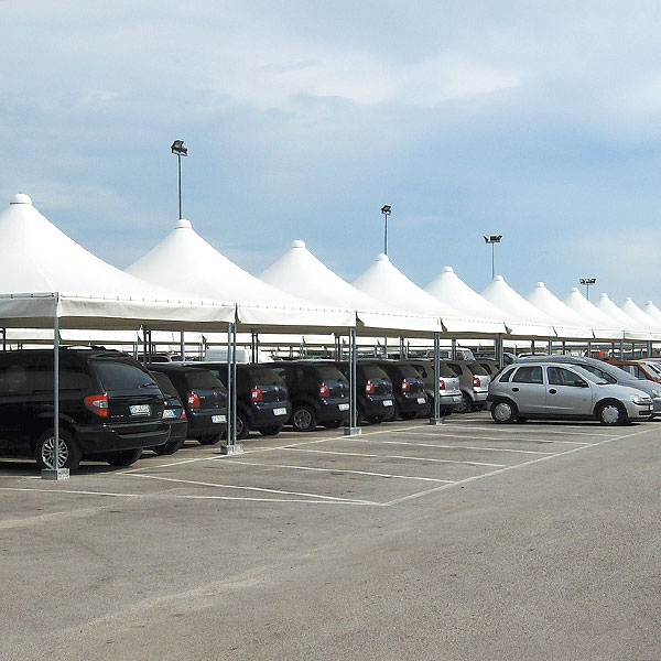 Gazebo Airone per concessionario auto o parcheggio coperto