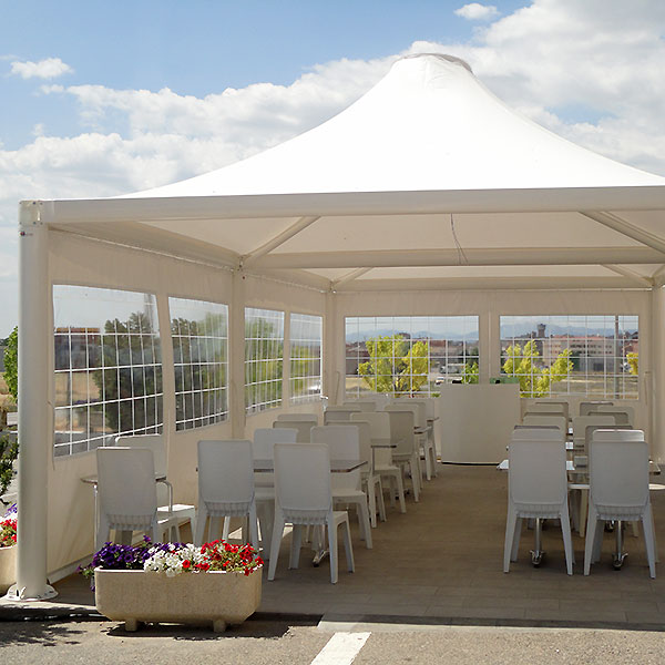 Gazebo Airone, copertura esterna per bar, ristoranti e pizzerie