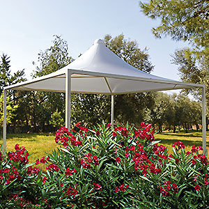 Gazebo Airone per giardino in esterno