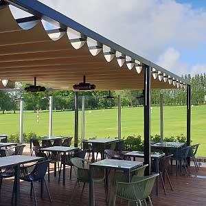 Gazebo Beach System copertura per bar ristoranti e pizzerie