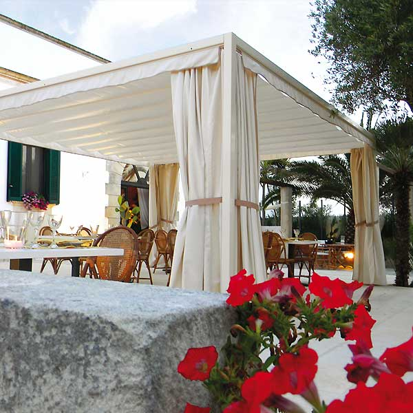 Gazebo Beach System copertura per ombreggiatura strutture ricettive area relax