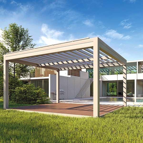 Gazebo QBox Shade copertura civile per ombreggiatura giardino area relax