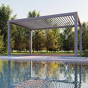 Gazebo QBox Shade copertura per esterno area relax bordo piscina