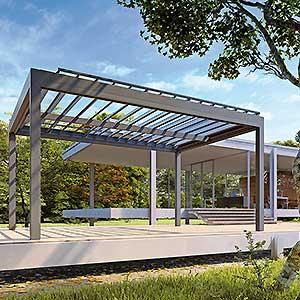 Gazebo QBox Shade copertura per esterno da giardino