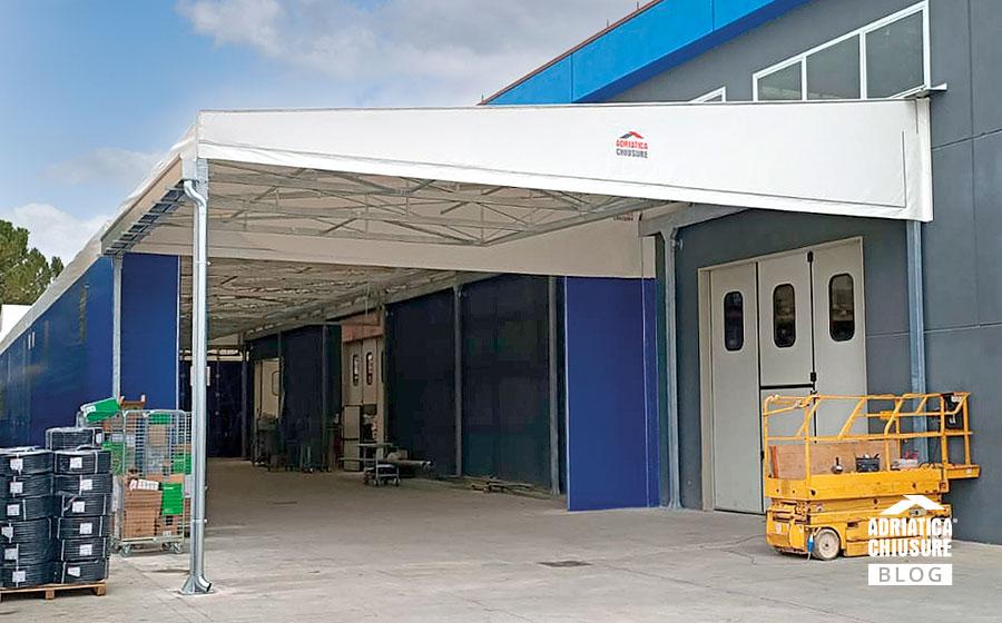 RemaTarlazzi SpA amplia gli spazi grazie ai tunnel mobili e tettoia di Adriatica Chiusure