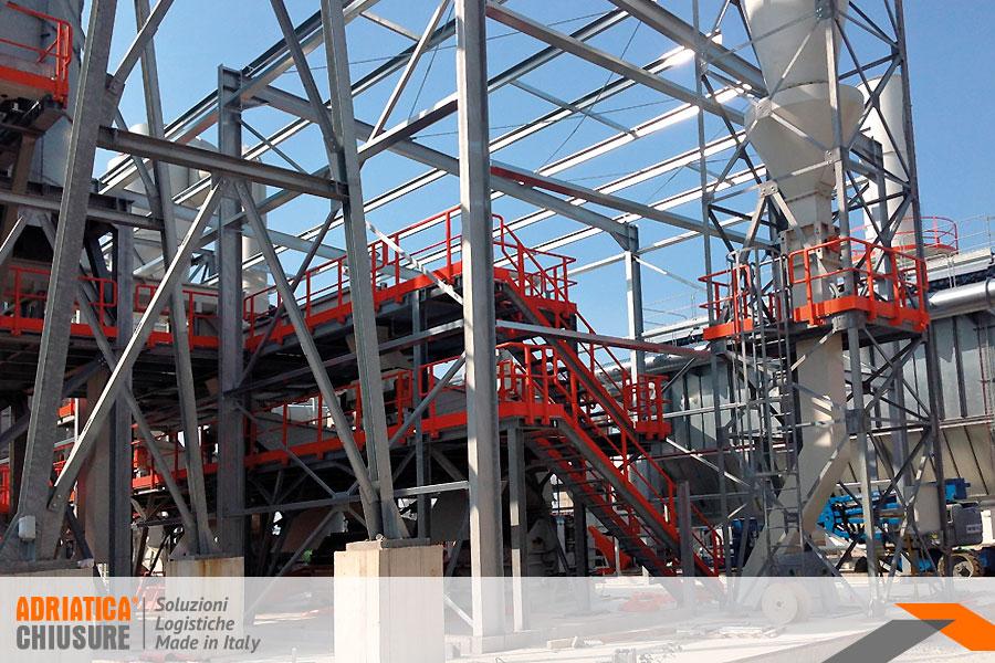 Soppalco industriale in ferro Adriatica Chiusure